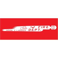 AMF 508-519 Fire Dept. Hook & Ladder 508 1963 Pedal Car Graphic
