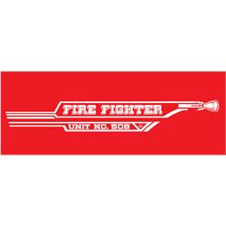 AMF 508-519 Fire Fighter 508 1967 Pedal Car Graphic