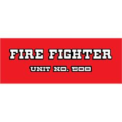 AMF 508-519 Fire Fighter 508 1970-71 Pedal Car Graphic