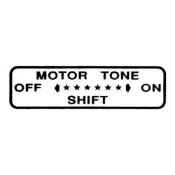 Motor Tone Shift Decal for Murray® Atomic Missile Shifter