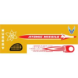 Murray® Gold Atomic Missile 1957-59 Pedal Car Graphic