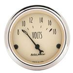 Auto Meter 1891 Antique Beige Air-Core Voltmeter Gauge