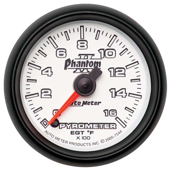 Auto Meter 7544 Phantom II Digital Stepper Motor Pyrometer Gauge