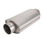Dynatech 776-14402 Oval Split Flow Muffler, 4 Inch