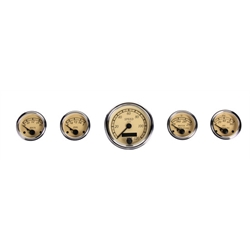 VDO A2C59519572 Heritage Chrome 5 Gauge Set