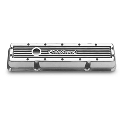 Edelbrock 4248 Elite Series Aluminum Valve Cover Set, Chevy