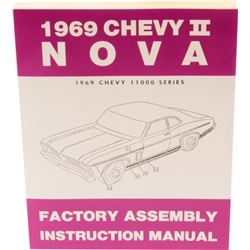 Dave Graham Factory Assembly Instruction Manual, 1969 Chevy II/Nova