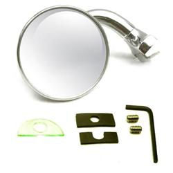 Speedway Universal Reversible Rear-View Door Peep Mirror, 3 Inch
