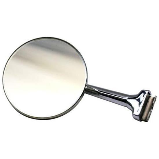 Universal Round Outside Rear View Mirror, Stainless