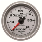 Auto Meter 4905 Ultra-Lite II Mechanical Boost Gauge, 60 PSI, 2-1/16