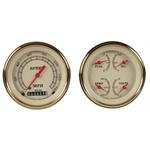 Classic Instruments VT02GLF Vintage Series Quad Gauges, 3-3/8 Dia.