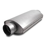 Dynatech 776-14302 Oval Split Flow Mufflers, 3 Inch