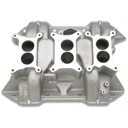 Edelbrock 24751 Chrysler 6-Packs Intake Manifold, BB Mopar 413,426,440