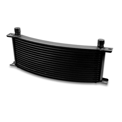 Earls 91308AERL 13 Row Oil Cooler Core, -8 AN Male Fitting, Black Wide