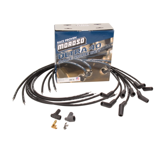 Moroso Ultra-40 Racing Spark Plug Wires, 135 Degree