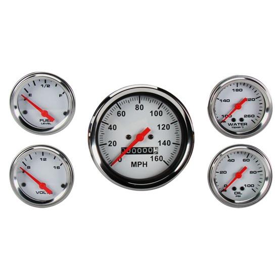 Car Gauges Set : New speedway gauge set quot mechanical speedometer