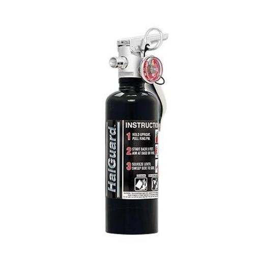 H3R Performance HG100B HalGuard 1.4 Lb. Fire Extinguisher, Black