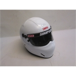 Garage Sale - Simpson X-Bandit SA2010 Racing Helmet, White, Size 6-7/8