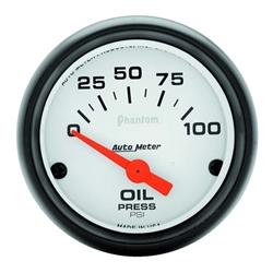 Garage Sale - Auto Meter 5727 Phantom Air-Core Oil Pressure Gauge, 2-1/16 Inch