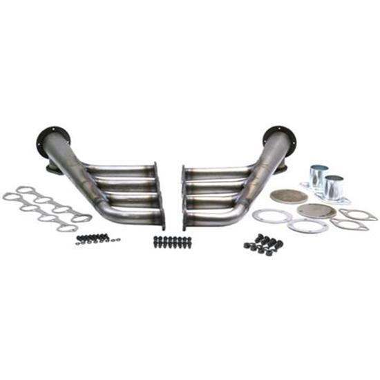 Small Block Ford 289-351W Lake Style Headers, Plain Steel Finish