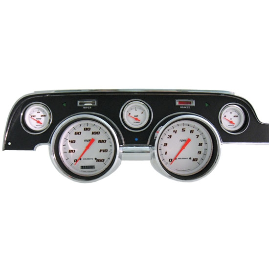 classic instruments mu67vsw dash assembly gauge set 1967 68 mustang free shipping speedway. Black Bedroom Furniture Sets. Home Design Ideas