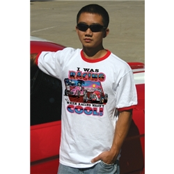 When Racing Wasn't Cool Retro T-Shirt, White Ringer