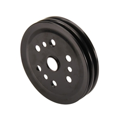 Lightweight Black Double Groove Crank Pulley, Chevy