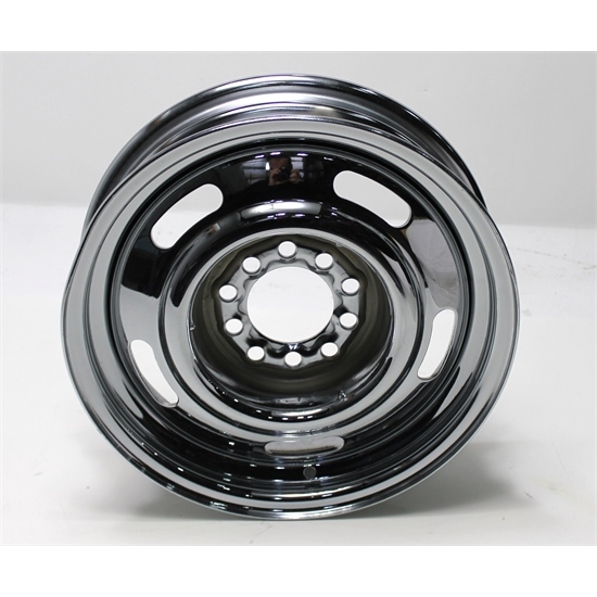 Garage Sale - Speedway GM Style 15X4 Chrome Rally Wheel, 4.5 and 4.75 Bolt Patterns