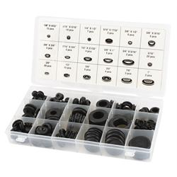 Rubber Grommet and Plug Set, 125-Piece Assortment