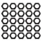 Steel Black Thin Nylock Nuts, 1/2 Inch-20 Thread - Pack of 25