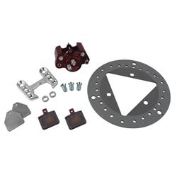 Ultra-Lite Sprint Car Left Front Brake Kit, Titanium Rotor, Round