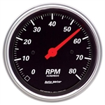 Auto Meter 1490 Designer Black Air-Core In-Dash Tachometer Gauge