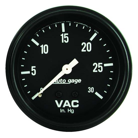 Auto Meter 2317 Auto Gage Mechanical Vacuum Gauge, 2-5/8 Inch