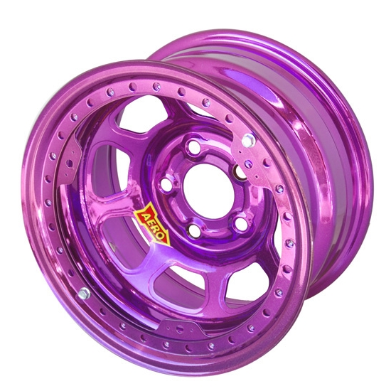 Aero 53985040XPUR 53 Series 15x8 Wheel, BLock, 5 on 5 BP, 4 Inch BS