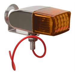 Rectangular Pony Light, Single Filament Bulb, Amber Lens