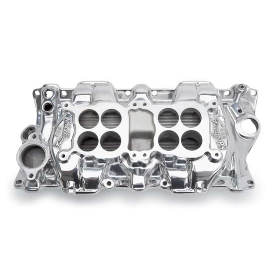 Edelbrock 54251 C-26 Dual-Quad Intake Manifold, Small