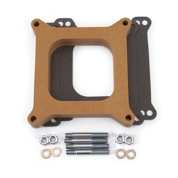 Edelbrock 8720 4- Barrel Carburetor Spacer, Wood, 1 Inch