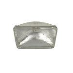 Rectangular Headlight Bulb, 12 Volt High/Low, Sealed Beam, 6-1/2 x 3-15/16 Inch