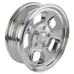 Team III Wheels Five Window Wheel-Pol-15x5-5 on 4.75-2-7/8 Backspace