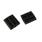 Pedal Car Parts, AMF Black Plastic Foot Pedals