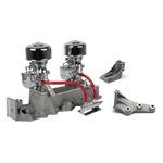 Chrome 9 Super 7 Carbs, Offenhauser 1073 Super Intake, 1942-1948 Ford V8