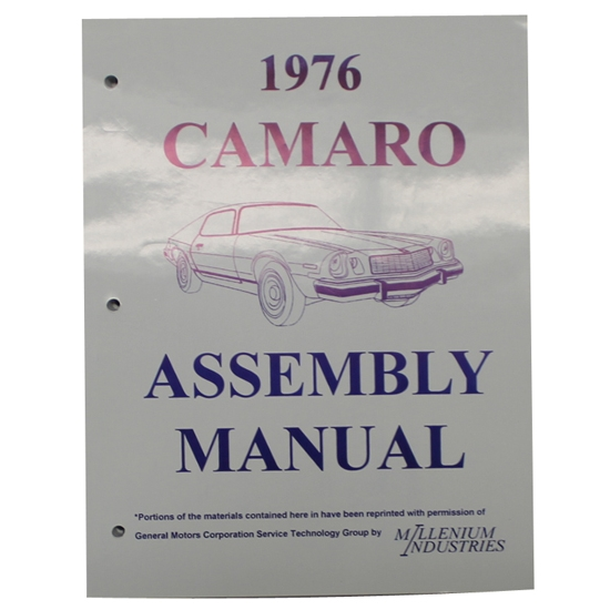 1976 Camaro Assembly Manual