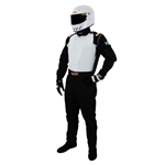 Garage Sale - Speedway Racing Suit-One Piece-Single Layer, Black, Size Large