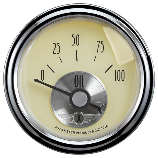 Auto Meter 2027 Prestige Antique Ivory Air-Core Oil Pressure Gauge