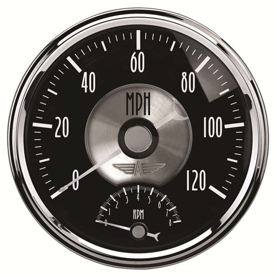 Auto Meter 2091 Prestige Black Diamond Air-Core Tach/Speedometer Gauge