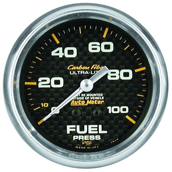 Auto Meter 4811 Carbon Fiber Mechanical Fuel Pressure Gauge