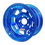 Aero 53-984540BLU 53 Series 15x8 Wheel, BL, 5 on 4-1/2, 4 Inch BS IMCA