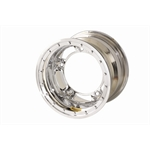 Bassett 51SR4CL 15X11 Wide-5 4 Inch BS Chrome Beadlock Wheel