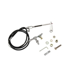 Lokar KD-2AODU Ford/AOD Black Kickdown Cable