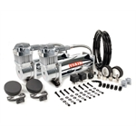 Viair 38033 Dual Air Suspension Compressor Kit, 380C, Chrome